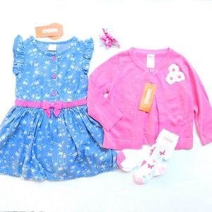 Gymboree Dress Cardigan Clothes Lot Baby Girl 4 Pc